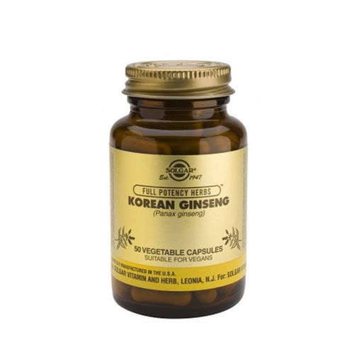 Solgar Korean Ginseng 50 veg caps (Ενέργεια & Τόνωση)