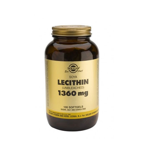 Solgar Lecithin 1360mg Softgels 100s (Λεκιθίνη)