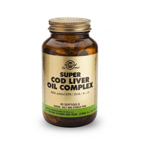 Solgar Super Cod Liver Oil Complex 60softgels (Μουρουνέλαιο)