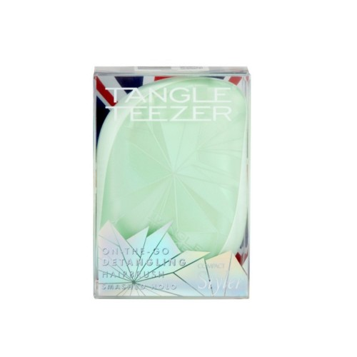 Tangle Teezer Compact Styler On The Go Detangling Hairbrush Smashed Holo Light Green (Βούρτσα Μικρού Μεγέθους Πράσινη)