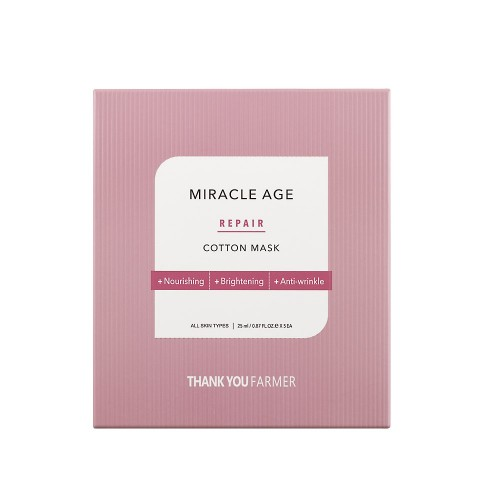 Thank You Farmer Miracle Age Repair Cotton Mask 1pc (Υφασμάτινη Μάσκα Θρέψης Προσώπου)