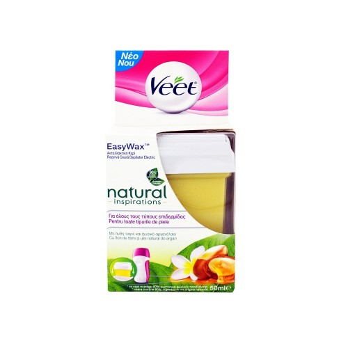 Veet EasyWax Natural Inspirations Electrical Roll-On Refill 50ml (Aνταλλακτικό Κερί για το Veet Easy Wax)