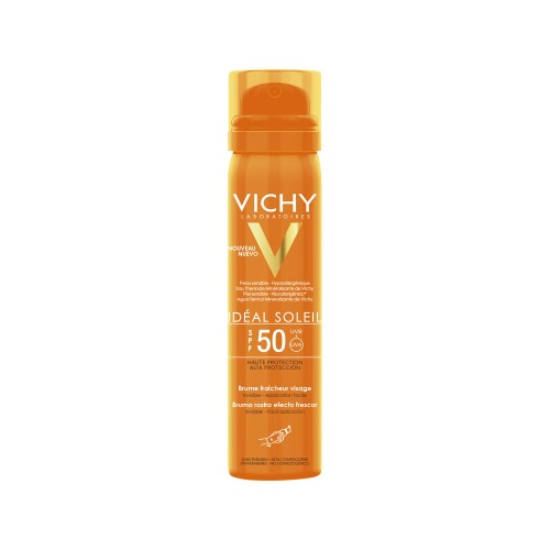 Vichy Ideal Soleil Fresh Face Mist SPF50 75ml (Δροσερό Mist Προσώπου)