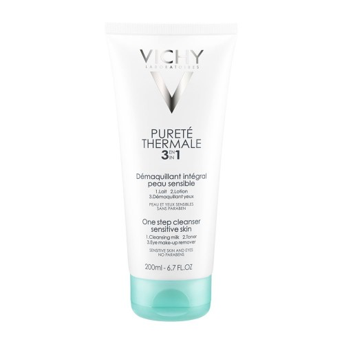 Vichy Purete Thermale Demaquilant Integral 3in1 200ml (Ντεμακιγιάζ & Καθαρισμός Προσώπου - Ματιών)