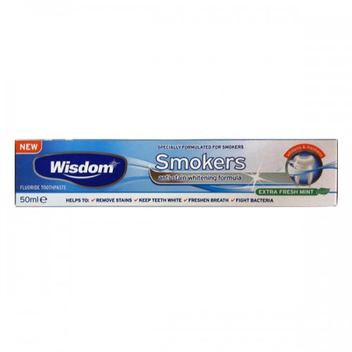 Wisdom Smokers Toothpaste Whitening Formula 50ml (Οδοντόπαστα, Ιδανική Για Καπνιστές)