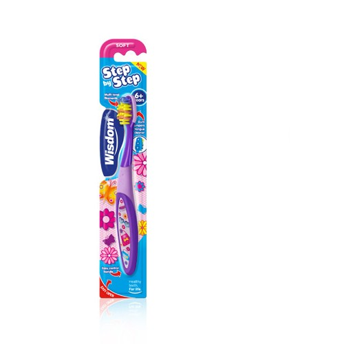 Wisdom Step By Step Toothbrush 6+Years (Παιδική Οδοντόβουρτσα Κατάλληλη Για Παιδιά Άνω Των 6 Ετών)